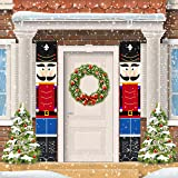 ORIENTAL CHERRY Nutcracker Christmas Decorations - Outdoor Xmas Decor - Life Size Soldier Model Nutcracker Banners for Front
