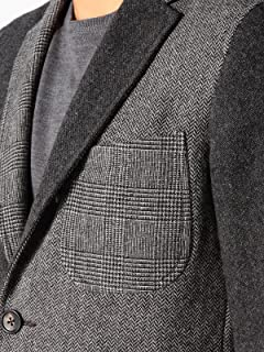 Crazy Pattern Sportcoat 11-16-0839-887: Grey