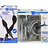 Cleanstream Premium Shower Enema Set with Silicone Tips