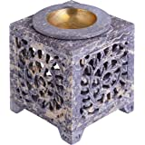 Tealight Candle Holder Oil Burner – Soapstone Essential Oil Incense Aroma Diffuser Furnace Home Decorations - Scented Wax Mel