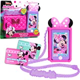 Disney Junior Minnie Mouse Chat with Me Cell Phone Set, Lights and Realistic Sounds, Includes Strap to Wear Like a Purse, by