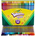 Crayola Twistables Coloured Pencils, 50 Colours, Twist for fun, Art & Craft, Kids, Perfect for at Home or the Classroom, No S