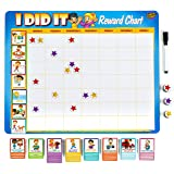 "Learn & Climb Toddler Chore Chart - 63 Behavioral Chores as Potty Train, Behavior & More. ""Thick Magnetic"" Reward Chart Board"