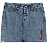 Tommy Hilfiger Women's Adaptive Denim Skirt with Magnetic Fly, Light WASH
