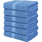 Utopia Towels 6 Pack Bath Towels 24 x 48 Inches (Electric Blue)