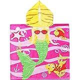 "Exclusivo Mezcla 100% Cotton Mermaid Kids Baby Hooded Bath/Beach/Pool Towel, 24"" x 47"""