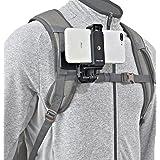 ウェアラブルカメラ スマホ デジカメ POV ハンズフリー 動画 撮影 装備 スマホホルダー 360° 回転 角度調整 クリップ マウント 変換アダプター 付き クランプ ブラケット ホルダー スマートフォン・各種アクションカメラ・ スポーツカメラに