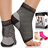 Plantar Fasciitis Socks with Arch Support for Men & Women - Best 24/7 Compression Socks Foot Sleeve for Aching Feet & Heel Pa