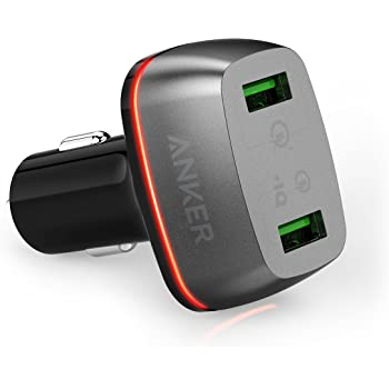 【Quick Charge 3.0】 Anker PowerDrive+ 2 (42W 2ポート USBカーチャージャー QC3.0,QC2.0 & PowerIQ搭載) iPhone Andoird IQOS 各種他対応