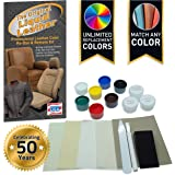 Liquid Leather Repair and Re-Color Kit for All Vinyl & Leather. Restores to New Condition; Car Seats, Boats, Upholstery, Sofa