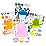 24 Pack Make-A-Sea Sticker Sheets - Stickers of All Your Kids Favorite Sea Life - Fun Craft Project for Children - Perfect Bi