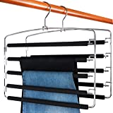 TOPIA HANGER Pants Hangers Slacks Hangers 2 Pack, Swing Arm Slack Hanger, Space Saving Non-Slip Foam Padded Closet Storage Or