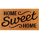 THEODORE MAGNUS Natural Coir Doormat with Non-Slip Backing - 17 x 30 - Outdoor/Indoor - Natural - Home Sweet Home - COIR-1730