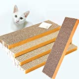 ShioSel, Cat Scratch Pads, Scratcher Cardboards Scratching Pads, Catnip Included (5-Pack,Slim)