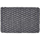 """Rockport Rope Doormats 2438206 Indoor & Outdoor Doormats, 24"""" x 38"""", Gray"""
