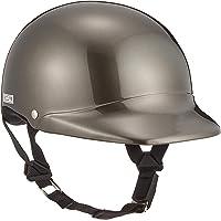 バイクパーツセンター ヘルメット ハーフ ツバ付 ガンメタリック フリーサイズ (頭囲 57cm~60cm未満) 700…