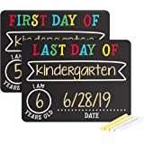 Pearhead First and Last Day of School Photo Sharing Chalkboard Signs; The Perfect Back to School Chalkboard Sign to Commemora