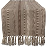 DII Braided Cotton Table Runner Perfect for Spring, Fall Holidays, Parties and Everyday Use, 15x108, Stone Taupe