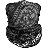 Paisley Outdoor Face Mask By IndieRidge - Microfiber Polyester Multifunctional Seamless Headwear for Motorcycle Hiking Cyclin