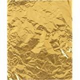 Foil Candy Wrappers - 100-Pack Gold Aluminum Foil Wrapping Paper, 6 x 7.5-Inch Candy Bar Wrappers for Chocolate, Caramel, Swe