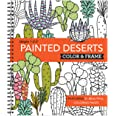 Color & Frame - Painted Deserts (Adult Coloring Book)