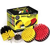 Drillbrush Scrub Brush Drill Attachment Kit - Drill Powered Cleaning Brush Attachments - Time Saving Cleaning Kit - Great for