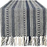 DII Braided Cotton Table Runner Perfect for Summer, Holiday Parties and Everyday Use, 15x72, Navy Blue