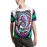 Liquid Blue Men's Grateful Dead Seasons of The Dead Tie Dye T-Shirt - Purple