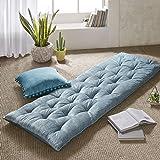 Intelligent Design Poly Chenille Lounge Floor Pillow Cushion, ID31-1528, Chenille, Aqua, 27x74