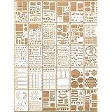 30 Pieces Journal Stencils Plastic Planner Stencils Productivity Journal Stencils Set DIY Drawing Templates for Journal Noteb
