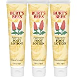 Burt's Bees Peppermint Foot Lotion - 3.38 Ounce Tube (Pack of 3)