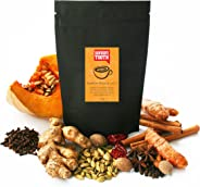 Savoury Tooth Pumpkin Masala Latte - Delicious Hot or Cold - Blend of Pumpkin and Aromatic Spices - Natural and Organic - Gr