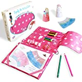 Pipity Arts and Crafts for Kids. Kits with Stationery set + Kids Activity Books: Paper Craft, Colouring, Drawing, Travel Game