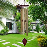 KOSSLY Memorial Wind Chimes Outdoor - 30 Inch 6 Rustproof Aluminum Tubes Wooden Wind Bell Sympathy Romantic Wind Chimes, Best