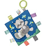 Taggies Soothing Sensory Crinkle Me Toy with Baby Paper and Squeaker, Harley Raccoon, 6.5 x 6.5-Inches