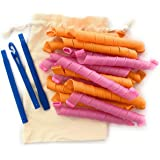 Heatless Hair Curlers with Travel Bag 18pcs Magic Hair Curlers No Heat Wave Formers for Heatless Curls Overnight 55cm (22in)