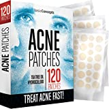 Acne Patches (120 Pack), Tea Tree Oil and Hydrocolloid Pimple Patches for Face, Zit Patch (3 Sizes), Blemish Patches, Acne Do