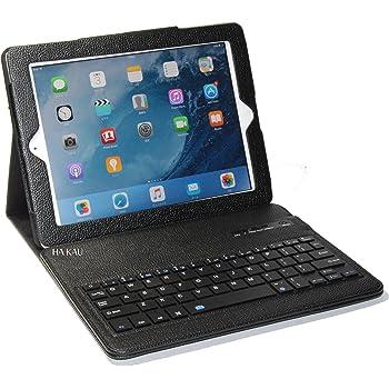 【HAIKAU】 iPad(第4世代、第3世代) iPad2 兼用 無線式キーボード内蔵ソフトレザーケース スリープ機能付き 【英語キーボード】 日本語操作説明書付き ブラック Bluetooth Keyboard Case for ipad (4th,3rd,2)  Black