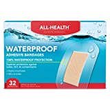 All-Health Clear Waterproof Adhesive Bandages, 2 x 3-1/2 inch, 32 Count