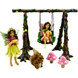 Fairy Garden Kit Swing Set with Miniature Fairies & Accessories - Fairy Figurines by Pretmanns