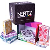 Brybelly Nertz: The Fast Frenzied Fun Card Game - 12 Decks of Playing Cards in 12 Vibrant Colors, Bulk Set of Poker Wide-Size