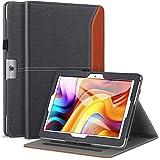Dragon Touch K10 ケース/Max10 ケース/Note Pad K10(NotePad 102に対応しない) Ztotop/Victbing 10.1, ZONKO 10.1 多角度 レザー ポケット付き バンド付き ペンホルダー 手