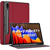ProCase Galaxy Tab S7 Plus 12.4 Case 2020 with S Pen Holder, Slim Stand Protective Folio Case Smart Cover for Galaxy Tab S7 P
