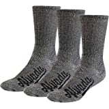 80% Merino Wool Hiking Socks Thermal Warm Crew Winter Sock for Men & Women 3 Pairs