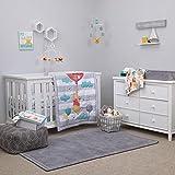 Disney Winnie The Pooh First Best Friend 4 Piece Nursery Crib Bedding Set, Aqua/Grey/White/Red