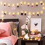 Photo Clip String Lights (16.4ft), 40 LED & Remote, Battery Powered – Gift for Teen Girl – Cute Teenage VSCO Stuff as Room De