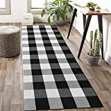 Buffalo Plaid Check Rug Runner 2' x 6' Plaid Farmhouse Runner Rug Checkered Washable Outdoor Rug for Kitchen/Laundry/Bathroom