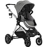 Evenflo Pivot Xpand Modular Baby Stroller, Extra-Large Storage Basket, 55-lb Capacity, Percheron Gray
