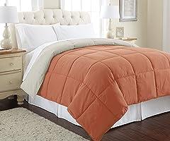 Amrapur Overseas   Goose Down Alternative Microfiber Quilted Reversible Comforter / Duvet Insert - Ultra Soft Hypoallergenic
