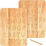 Montessori & Me Wood Alphabet Tracing Board from Montessori Letters - Wooden Letters - Large Print Letters for Toddler to Pre